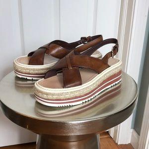Prada Espadrille Platform Sandal sz 36 ½ 7